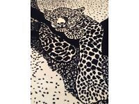 Authentic African leopard rug