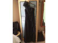 Size 12(M) long black, one shoulder evening/ prom dress.