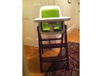 Oxo Tot Sprout Wooden High Chair/Toddler Chair (Green/Walnut) **PRICE REDUCED**