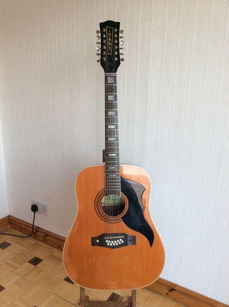 Twelve string acoustic guitar,( circa 1970' s )