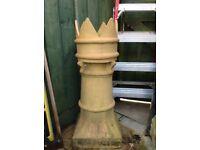 Victorian crown chimney pot