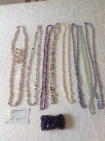 Tanzanite,Kunzite aquamarine, fluorite,rose quartz amethyst long necklaces