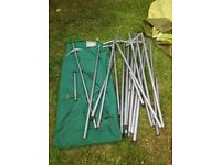 Vintage 50's-60's STRONG canvas 6 Berth Steel Poles Frame Tent! Water proof