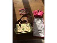 Pink linings yummy mummy twice as nice baby changing bag