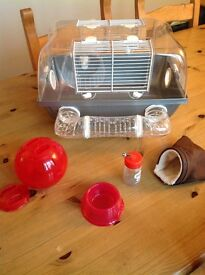 Hamster cage plus accessory bundle