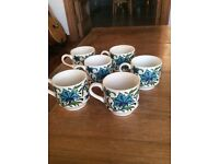 Midwinter Spanish Garden coffee cups