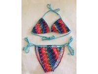 D&G print triangle bikini size 10-12