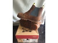 Kids Camper tan leather ankle boots