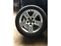 Alloy wheels with good tyres genuine Audi A4 5x112 7Jx16H2 ET42 £140 ONO