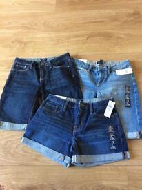 Brand new children's denim shorts gap age 10