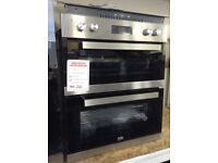 Beko built under double oven. Stainless steel £240 new/graded 12 month Gtee