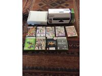 X box 360 with Kinect and games
