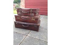 Vintage suitcases x3