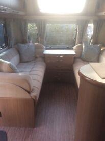 Aug 2017 Luxury Buccaneer Commodore 4 Berth Caravan: double axle, self levelling with motor mover