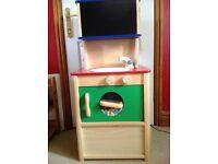 Child's Wooden Play Kitchen.