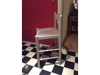 3 kitchen chairs, bar stool style, very sturdy and in good condition