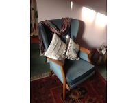 Parker Knoll Armchair, model PK 761/2/3/4. Recently reupholstered, no marks or scratches.