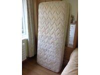 Single mattress measures L68 W30 D6 inches