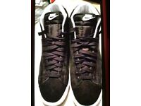 Black suede Nike size 12
