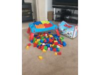 Mega blocks table and blocks for sale