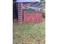 6 used fence panels and trellis