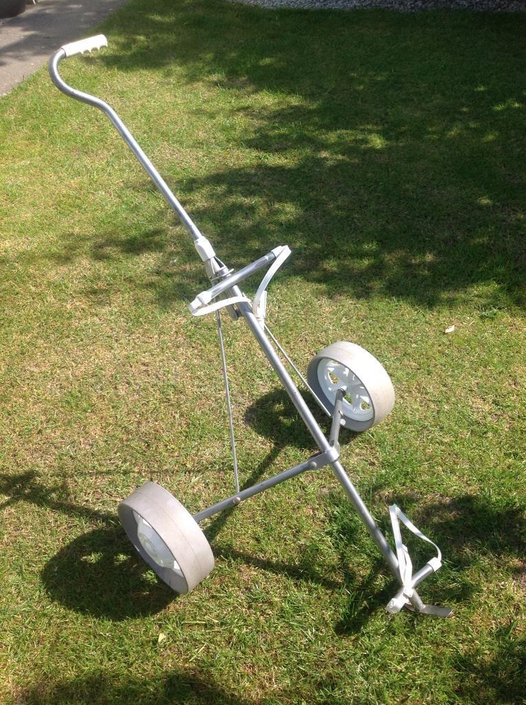 Two wheeled Folding Golf Trolleyin Fleetwood, LancashireGumtree - Used Golf Trolley, 2 wheels, folding. Two available one back one silver. £12 each or £20 the pair