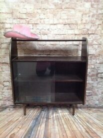 70's Glass Front Cabinet