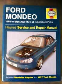 Haynes Workshop Manual For Ford Mondeo 93-00