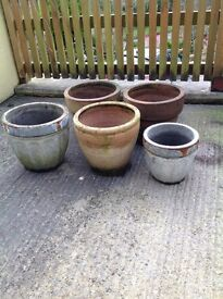 5x garden pots