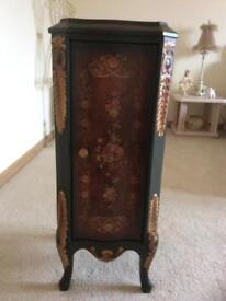 Solid Mahogany Antique Style Side Cabinet