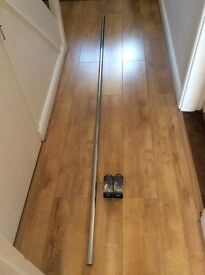 Chrome Curtain Pole (240cm) with Recess Brackets