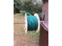 MASSIVE 80 metres of NEW kink free hose with fittings and wooden cable reel.