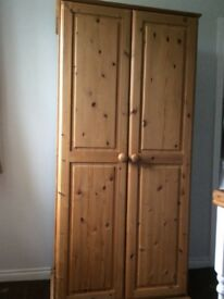 Creations solid pine wardrobe