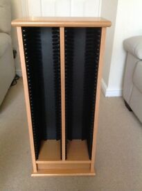 CD RACK HOLDS 80 DISCS