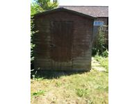 Wooden garden shed for free