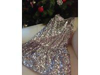 Silver Sequin Dress M&S