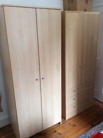 Two single wardrobes