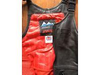 Leathers bib n brace Ladies good condition