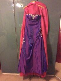Purple prom dress size 8