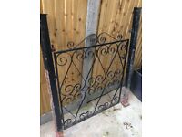 Single metal pedestrian front gate with posts, 2 available if needed