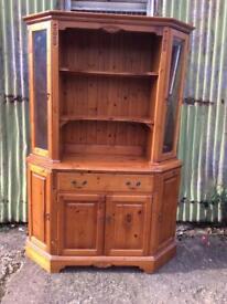 Pine dresser display storage cupboard storage