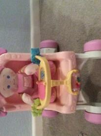 Fisher price stroll along walker 9months+