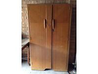 Art Deco style small solid wood wardrobe