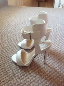 White High Heel Shoes Size 4