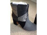 Black multi Boots size 4EEE new with box from sole diva