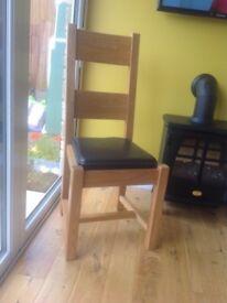 Oak dinning chairs