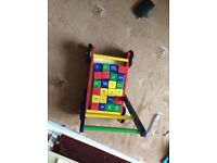 Nearly new wooden walk with blocks 35£