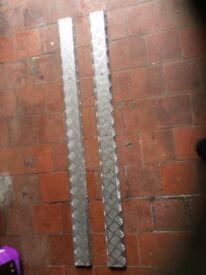Aluminium Treadplate 3mm ideal Grip for Trailers etc 2 x 1200mm x 100mm Offers Invited