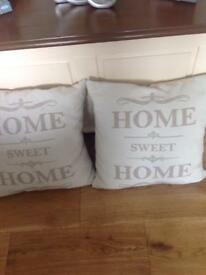 Pair of HOME cushions £7.00 pair