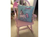 Little Girls Rocking Chair & Cushion